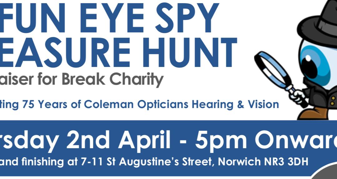 Eye Spy Treasure Hunt fundraiser for Break Charity